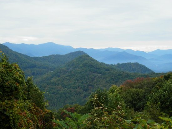 Buffalo Creek Bed and Breakfast: Mountain views not far from their home on Cherohala Skyway.