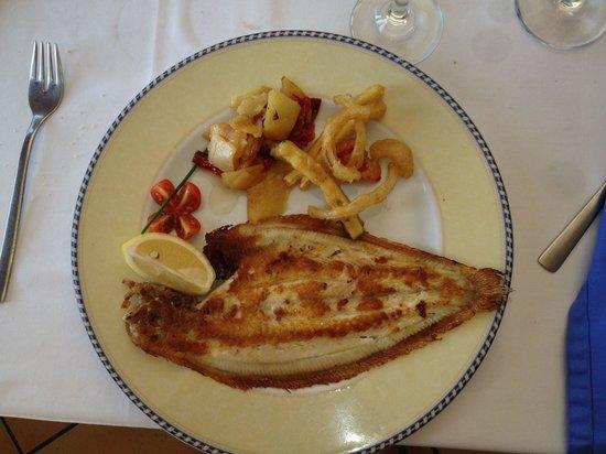 Finestrat, Spain: Gebakken tong