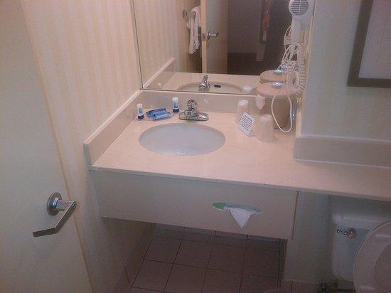 Charleston Capitol Hotel: Tiny bathroom
