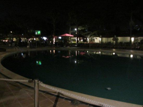 InterContinental Nairobi: pool at night. still clsoed