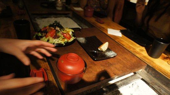 Carlota Akaneya: Salad and miso soup