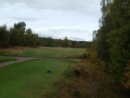 Boat of Garten Golf Club: View of 15th fairway from tee