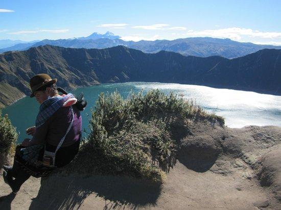 Laguna Quilotoa: indígenas