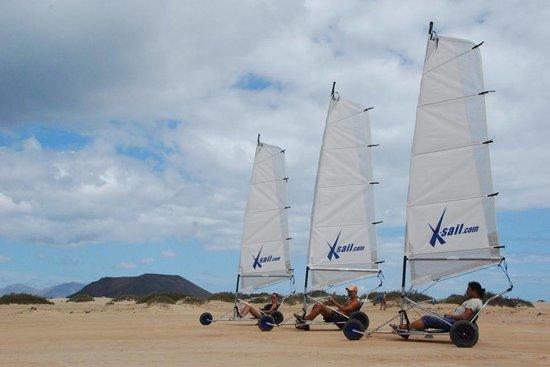 Fuerteventura, Spanien: Landsailing