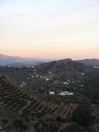 Sun setting over Casa Colina