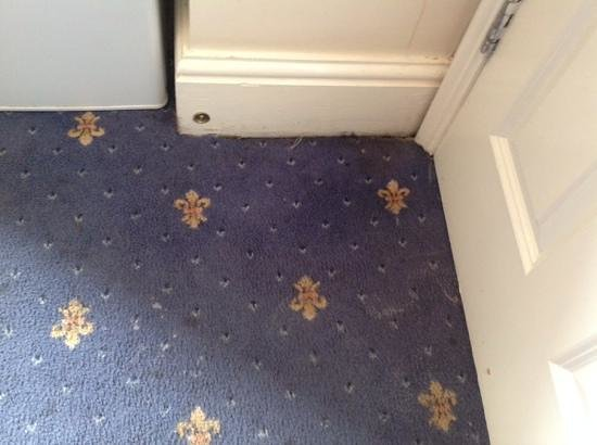 Central Hotel Cheltenham: Filthy carpet