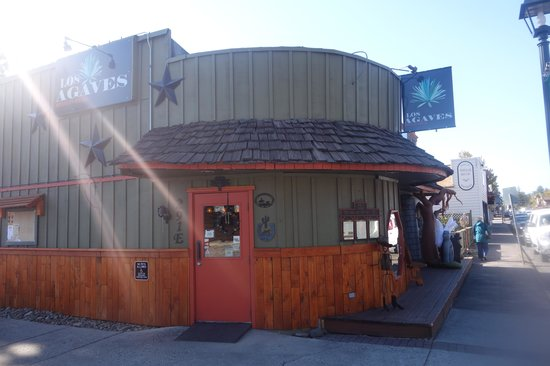 Los Agaves Mexican Grill : Easy to find on the east side of Sisters.