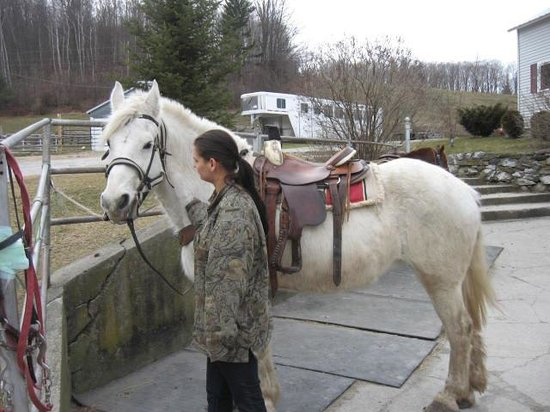 Danby, VT: My daughter, Ashley with Gypsy(formerly known as Pearl)