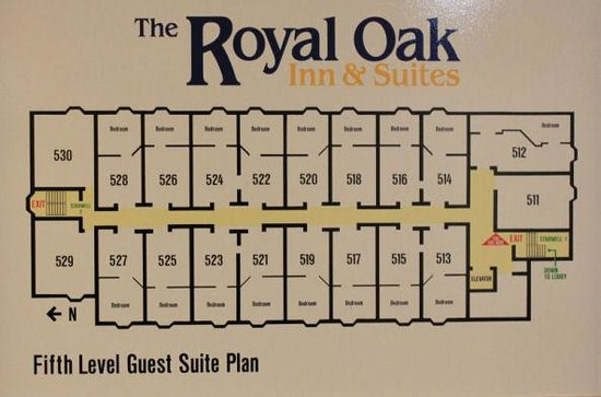 Clarion Hotel & Suites : 5th Floor layout