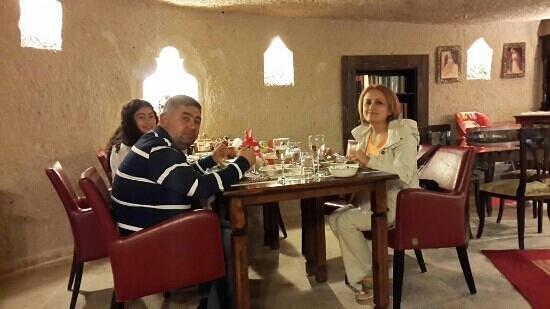 Oyku Evi Cave Hotel: süper yemekler