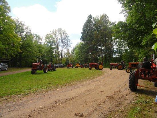 Potato River Falls: An antique tractor club showed up.  Kinda cool.