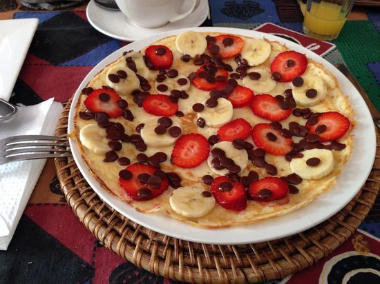 Bamboo the Guesthouse: Sweet Pancake Frühstück @Bamboo