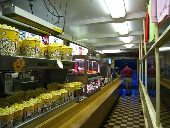 Wellfleet Drive-In Theatre: Old school snack bar.