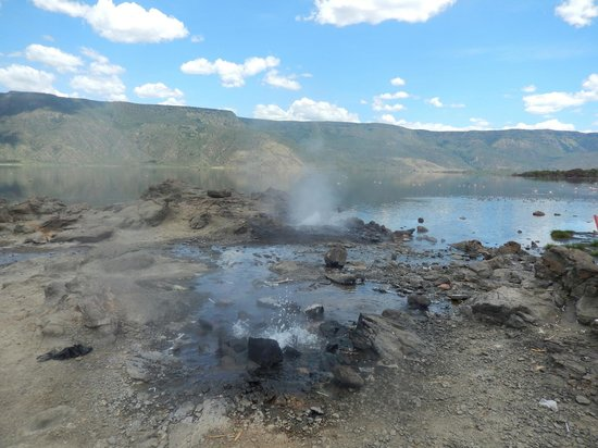 Baringo District, Quênia: Hot springs at Bogoria