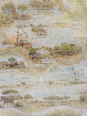 Lion Sands River Lodge : Map of Sabi Sands Private Reserve