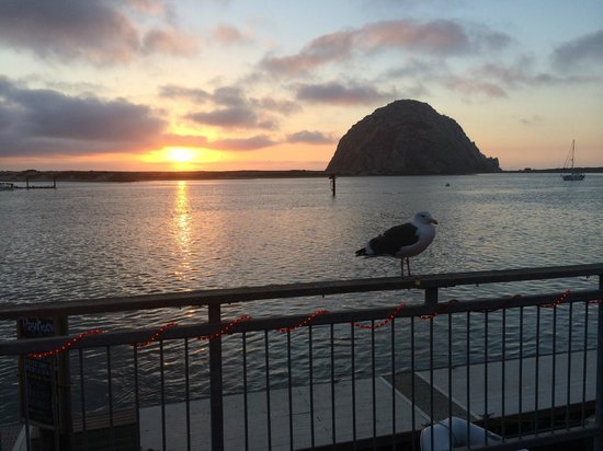 Comfort Inn Morro Bay: Sunset view of the rock taken a block from the hotel.