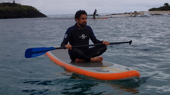 Floreana Lava Lodge: Galapagos Stand Up Paddle Yoga
