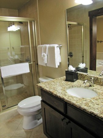 Grand Lodge on Peak 7: Divided bathroom with shower/toilet