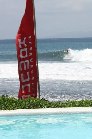 View Of The Famous Keramas Surf Break Over The Komune Resort Pool