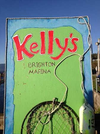 Kelly's Brighton Marina: Sign of a good time!