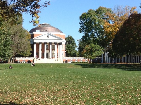 University of Virginia: The Rotunda on a beautiful autumn afternoon. Living History.