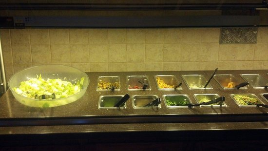 Granzella's Restaurant & Deli: Not a fancy salad bar, but included with most entrees.