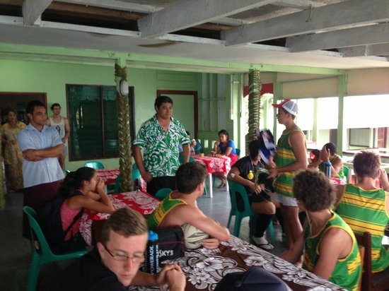Vaisala Hotel : Boys saying thank you to Kolone and staff  for a great couple of days