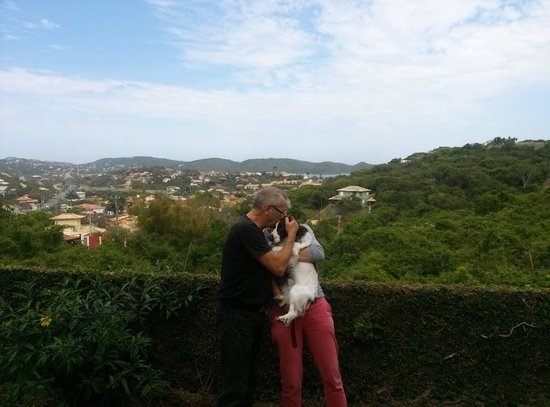 Deauville Pousada : a vista do meu quarto e o l'amour pour mon chien Mousse - adorável!