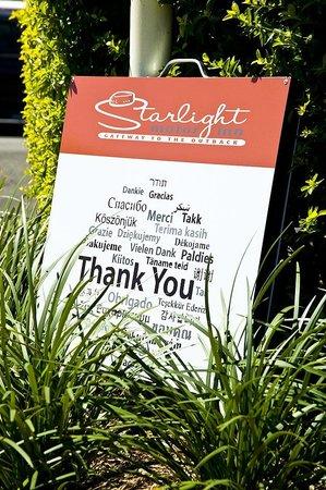 Starlight Motor Inn: Thankyou