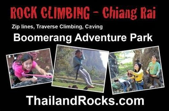 Boomerang Rock Climbing and Adventure Park: poster