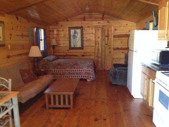 Sylamore Creek Camp: Wren cabin interior