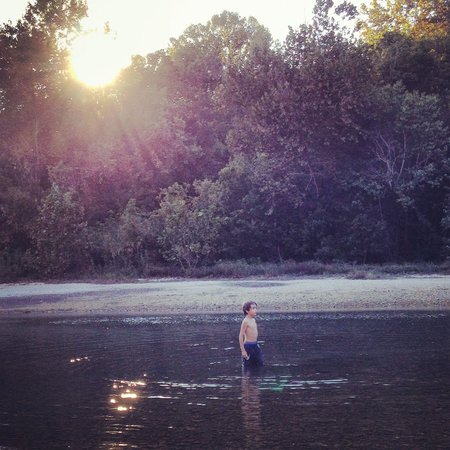 Sylamore Creek Camp: My son playing in the creek