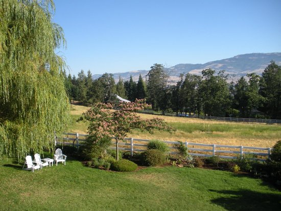 Country Willows Bed and Breakfast Inn: Front lawn with view of Oregon HIlls