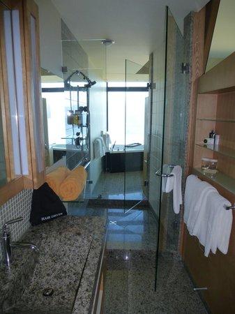 Sparkling Hill Resort: Walk through shower