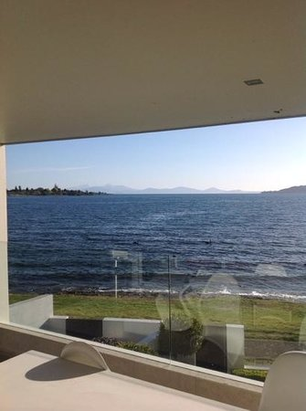 Sacred Waters Taupo Luxury Apartments: View from our front door