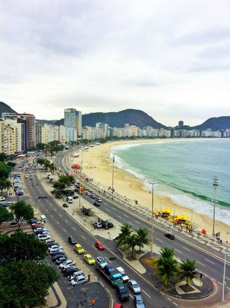 Orla Copacabana Hotel: View from our room! Beautiful Rio!