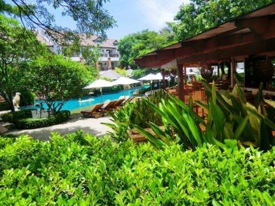 Woodlands Hotel & Resort: 入口近くのプール