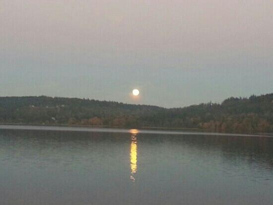 WorldMark Discovery Bay : moonrise over the bay