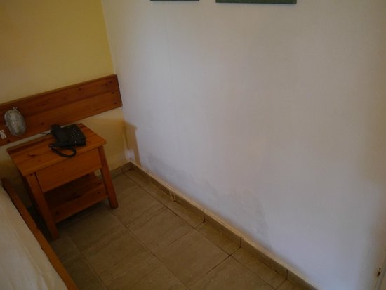 Hotel Alkyon: Macchia di umidità sul muro della camera