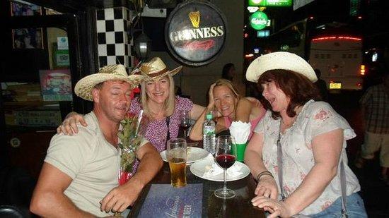 Chequers British Pub: a few of the regulars.
