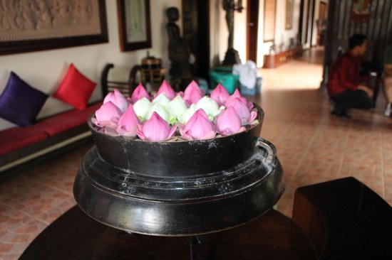 HanumanAlaya Boutique Residence: Nice welcom at the reception