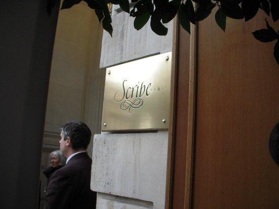 Hôtel Scribe Paris Opéra by Sofitel: 入り口です。
