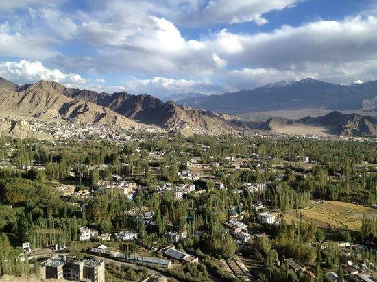 Leh City View From Shanti Stupa