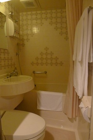 Sun Hotel Nagoya Nishiki: Just enough space to do your necessities.