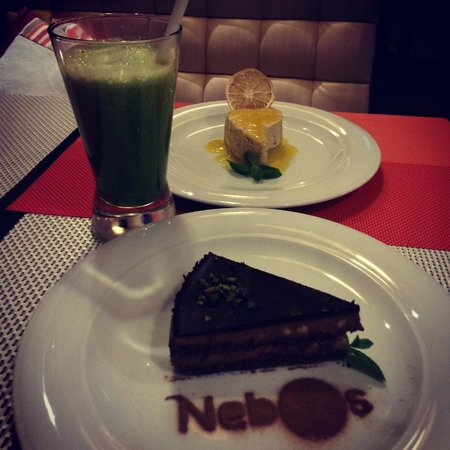 Nebos: Chocolate cake and lemon