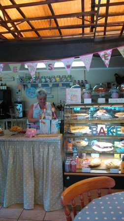 Ravenstone, UK: Carly owner of Tearoom