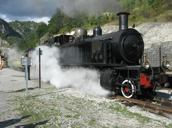 Train des Pignes : Annot , steam train
