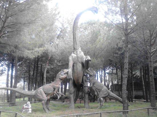 Dinosauri esposti al parco obr zok la citta dei for San lorenzello