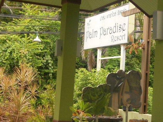Krabi Palm Paradise Resort : L'enseigne