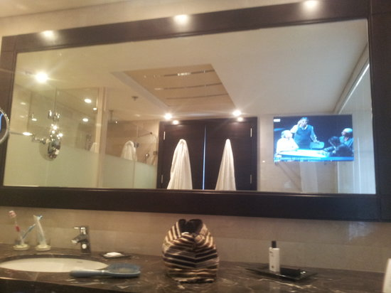 Dan Carmel Haifa Tv In Bathroom Mirror